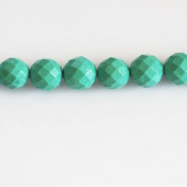 BeauMonde Jewelry - Howlite 8 mm round faceted green tone (new turquoise)