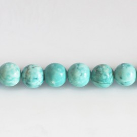 Howlite turquoise 8 mm perle ronde ton clair