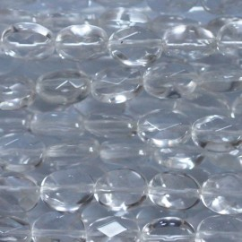 BeauMonde Jewelry - Rock crystal 6x8 mm oval faceted