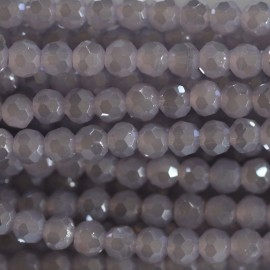 Pearl 4 mm round faceted