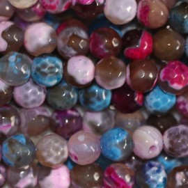 BeauMonde Jewelry - Agate 6 mm round faceted bead