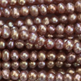 BeauMonde Jewelry - Cultured pearl about 4x3 mm baroque pink
