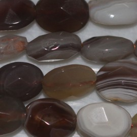 BeauMonde Jewelry - Botswana agate 8 x 6 mm oval faceted