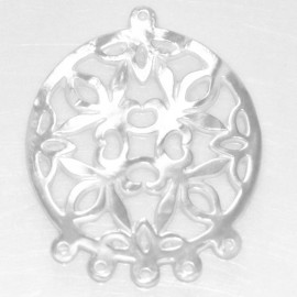 BeauMonde Jewelry - Mother-of-pearl 29 mm medallion 1 ring + 5 rings