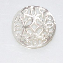 Mother-of-pearl 22 mm medallion flowers