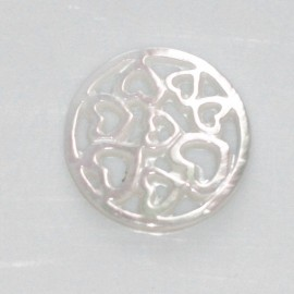BeauMonde Jewelry - Mother-of-pearl 17 mm medallion hearts