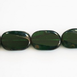 BeauMonde Jewelry - Bohemian pearl 18x12 mm rectangle flat green bottle
