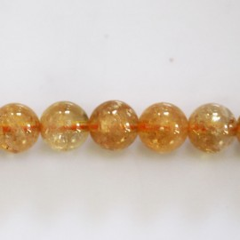 Citrine 10 mm round bead