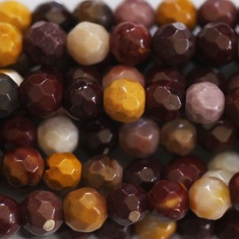 Mokaite 4 mm round faceted bead