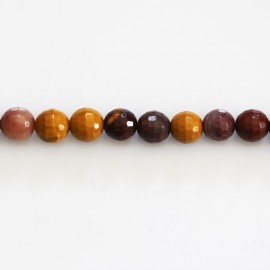 BeauMonde Jewelry - Mokaite 6 mm round faceted bead