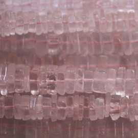 BeauMonde Jewelry - Quartz pink about 5/6 mm stacked squares