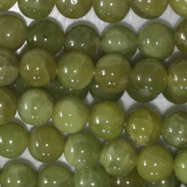 BeauMonde Jewelry - Olivine 6 mm round bead