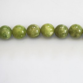 BeauMonde Jewelry - Olivine 8 mm round bead