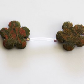 BeauMonde Jewelry - Unakite 20 mm flower (11 flowers)