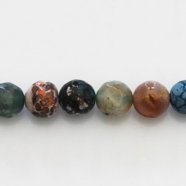 BeauMonde Jewelry - Agate 10 mm round bead faceted quality B