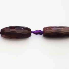 BeauMonde Jewelry - Agate 25X10 mm purple faceted olive