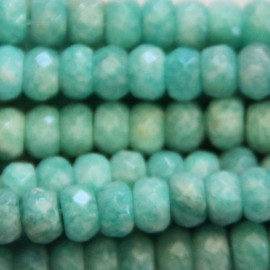 BeauMonde Jewelry - Amazonite 4x6 mm faceted washer Africa
