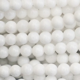 Quartzite 4 mm round bead  (white jasper)