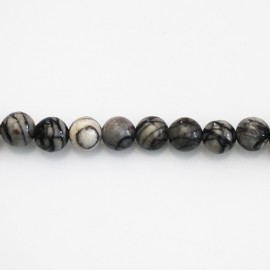 BeauMonde Jewelry - Jasper Web 6 mm round bead