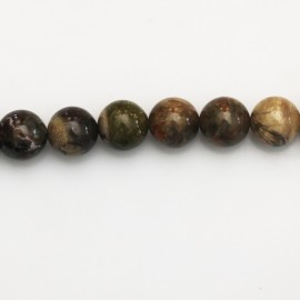 Agate pietersite 8 mm round bead