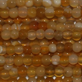 BeauMonde Jewelry - Agate yellow Botswana 3 mm round bead