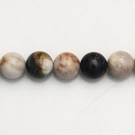 BeauMonde Jewelry - Agate dentritic 10 mm round bead