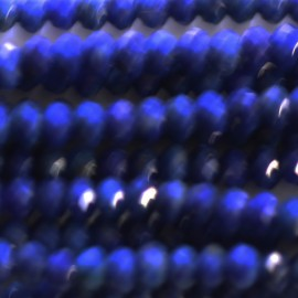 BeauMonde Jewelry - Lapis lazuli 3x2 mm Afghanistan faceted washer