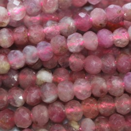 BeauMonde Jewelry - Tourmaline pink 3 mm round faceted bead Australia