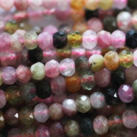 BeauMonde Jewelry - Tourmaline mixed 3x2 mm faceted washer