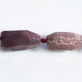 BeauMonde Jewelry - Agate 37x16 mm elongated carved nugget