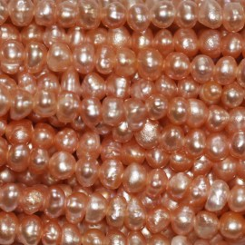 BeauMonde Jewelry - Cultured pearl 3/4 mm salmon nugget