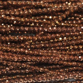 BeauMonde Jewelry - Hematite copper 2 mm round faceted bead