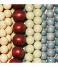 Tinted wood stained solid color round beads