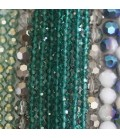 Classic line glass beads (thin facets)