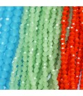 Faceted round beads toned line