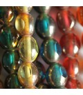 Glass bead olive shape large facets