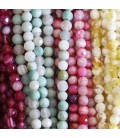Agate 4 mm faceted beads (heated agate)