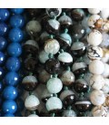 Agate 10 mm faceted beads (heated agate)