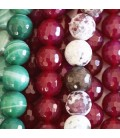 Agate 12 mm faceted beads (heated agate)
