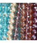 Glass bead 10 mm thin facets