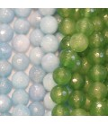 Jade tinted faceted 8 mm