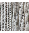 Howlite white faceted