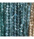 Faceted flat glass bead 6 mm