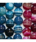 Agate 10 mm perle ronde