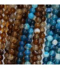Agate 4 mm perle ronde
