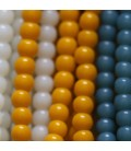 Colorful glass bead 4 mm