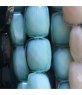 Bead 14x10 mm faceted rectangle