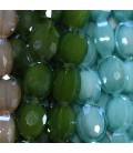 Faceted oval bead 9x12 mm