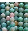 Round stones faceted by size