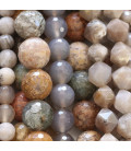 Natural faceted round bead agate Brazil / Mexico / India / Madagascar